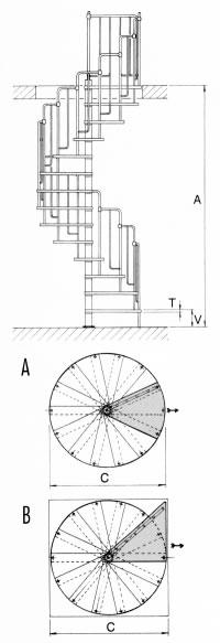 scale a chiocciola scale da interni scale retrattili