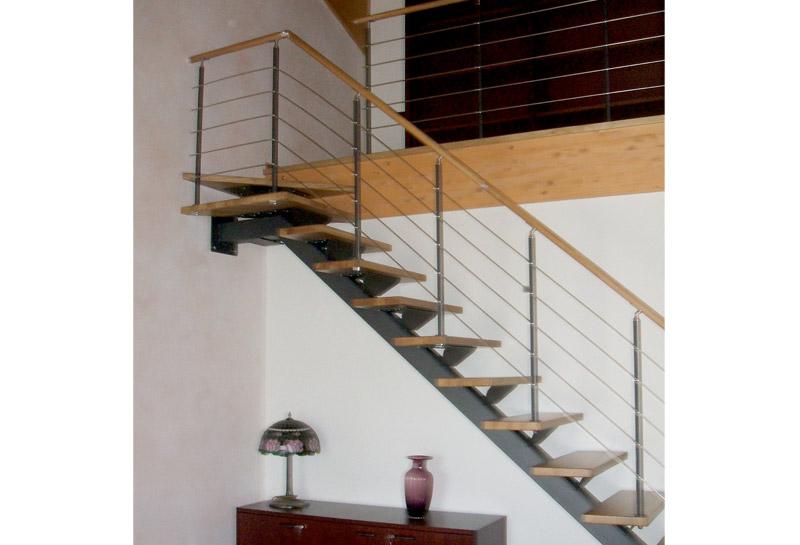 Scale in legno da interni scale retrattili scale a - Scale per interni misure ...